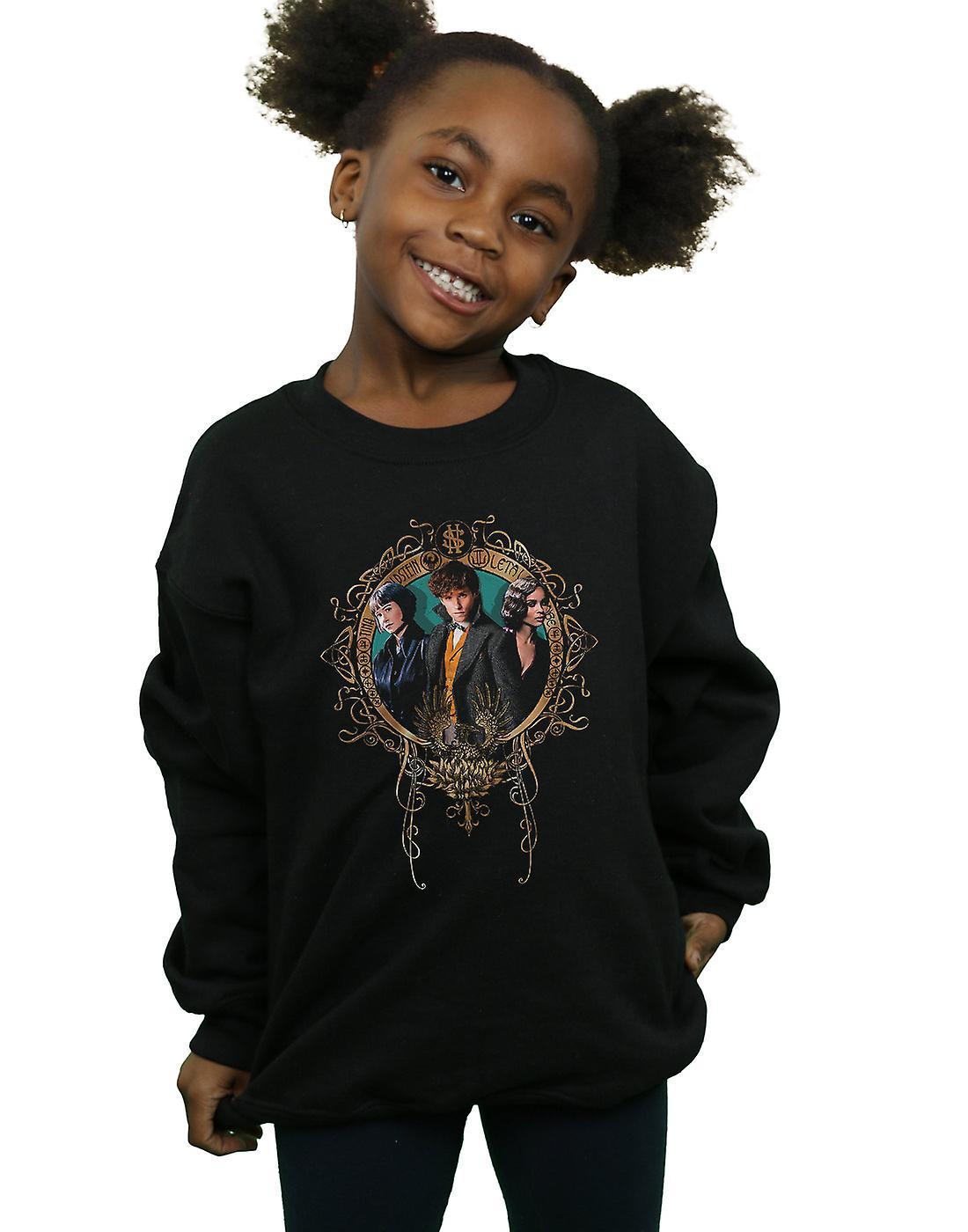 Fantastic Beasts Girls Tina, Newt And Leta Sweatshirt