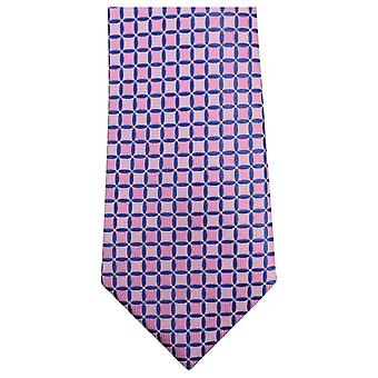 Knightsbridge cravatte geometriche Tie - rosa/blu