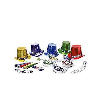 Año nuevo multicolor fiesta Kit para 10 personas