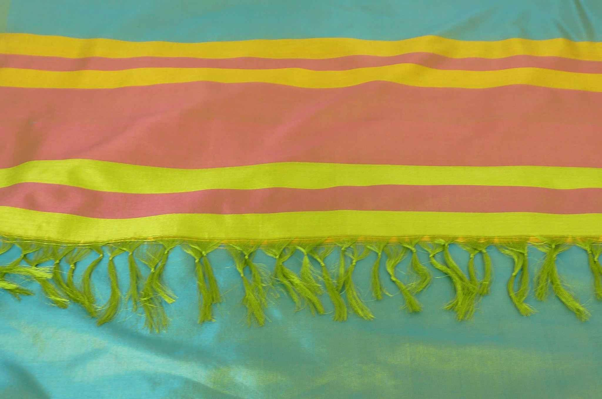 Varanasi Border Prime Silk Long Scarf Heritage Goswami 710 by Pashmina & Silk