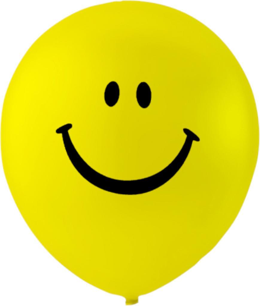 Ballonger Smiley 6-pack - 26 cm (10