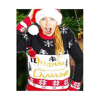 Suéter de los hombres trajes feos de Navidad para hombre y mujer