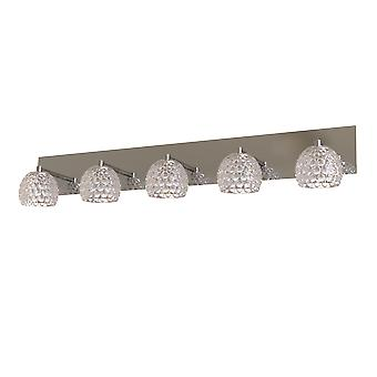 New LED Wall Light Chrome Wall Lamp Sconce 5 Pendant Lighting Fixture Home Décor