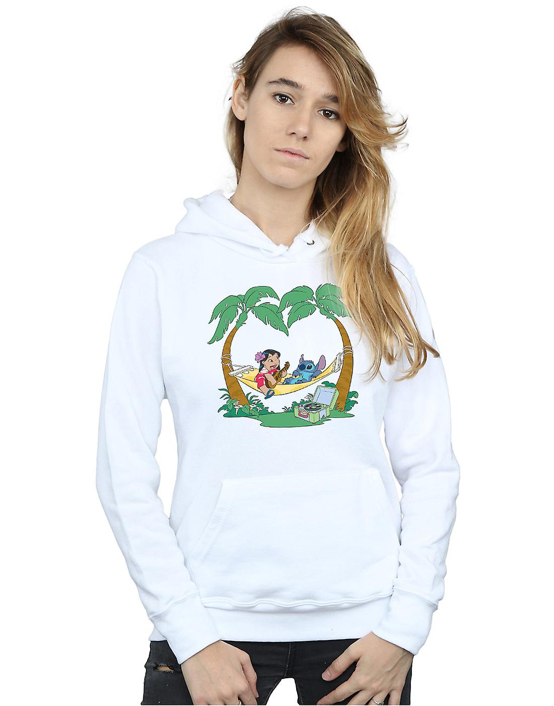 Disney Women's Lilo And Stitch Play Some Music Hoodie