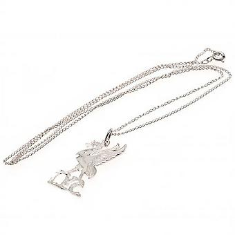 Liverpool FC Sterling Silver Liverbird Pendant And Chain