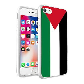For Apple iPhone 7 Plus - Palestine Flag Design Printed White Case Skin Cover - 0134 by i-Tronixs