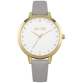 Missguided | Ladies | Grey Leather Strap Gold Case | MG010EG Watch