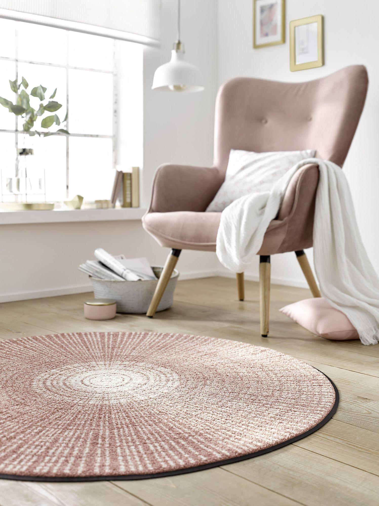 Round floor mat Cascara wash + dry powder washable dirt mat