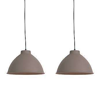 Conjunto QAZQA de 2 lâmpadas penduradas no país marrom - Anterio 38 Básico