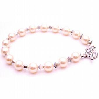 Firmati da damigella gioielli bracciale perle Avorio cometa cristalli