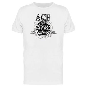 Vintage Ace Of Spades Graphic Tee Men's -Image by Shutterstock