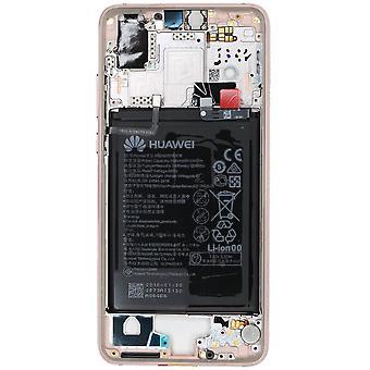 Oficial Huawei P20 - rosa quadro central com bateria | iParts4u