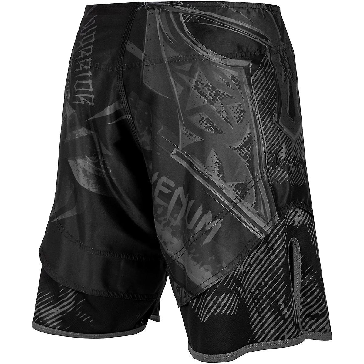 Pantaloncini Venum gladiatore 3.0 MMA lotta - Black/Black
