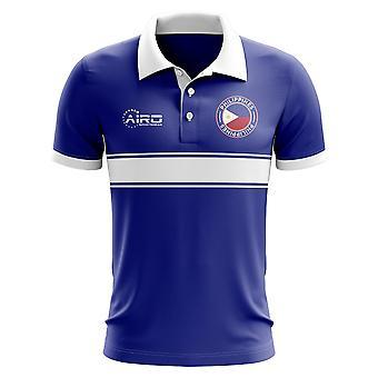 Philippinen-Konzept-Streifen-Polo-Shirt (blau)