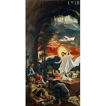 Resurrection of Christ,Albrecht Altdorfer,70.5x37cm