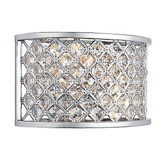 Endon Lighting Hudson Polished Chrome And Crystal Glass Bead Wall Light