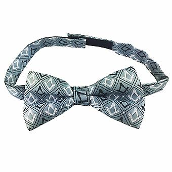 Masonic 100% silk woven craft bow tie with square compass green