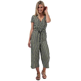 Womens Only Rose Jumpsuit In Oil Green