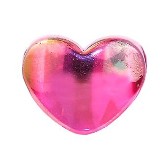 Resin Heart Ring with Aurora Borealis Lustre