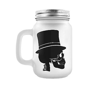 Grindstore Mr Bones Frosted Mason Jar Drinking Glass