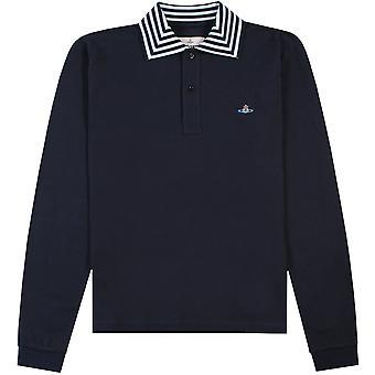 Vivienne Westwood Multi Stripe Long Sleeve Polo