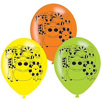 Jungle Animals Party Balloons 6 Pezzi Safari Avventura Compleanno dei Bambini