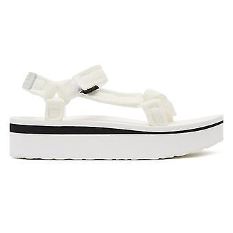 Teva Flatform Universal mesh print kvinner hvit sandaler