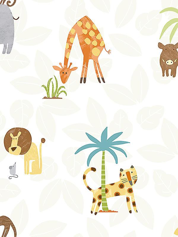 Jungle Friends Wallpaper Multi Holden 12541