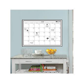 Wallpops Laminowane miesięczny kalendarz ścienny z suchym piórem erase