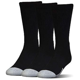 תחת שריון מחוממת צוות ספורט למבוגרים גרביים לארוז 3 Pack שחור