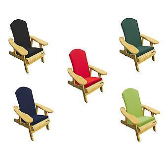 Trueshop ping leven Adirondack fauteuil met verstelbare rugsteun & kussen