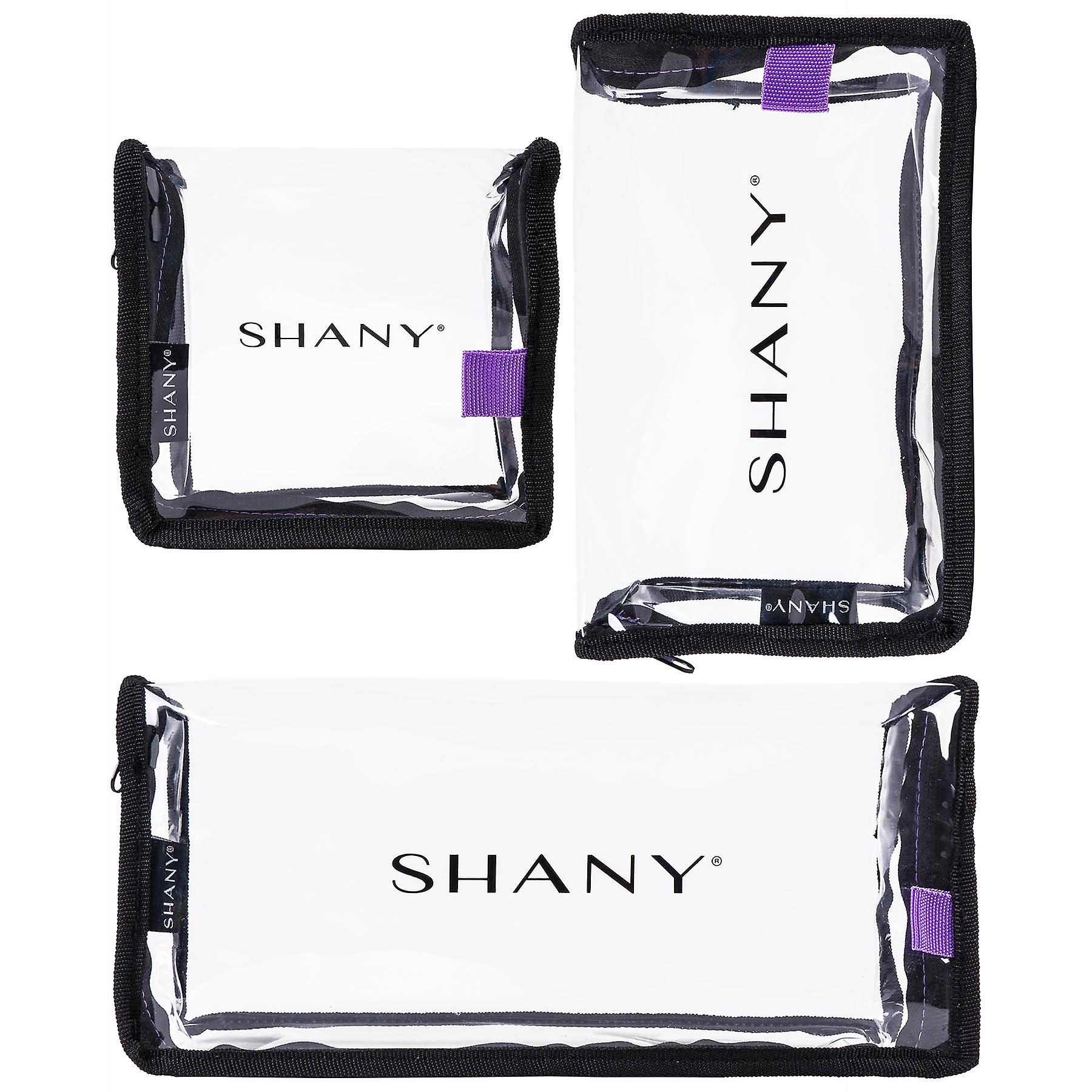 SHANY Cosmetics Traveling Makeup Artist Bag Set of 3 – Clear, Water-resistant Organizers in Small, Medium, and Large – Travel Trio