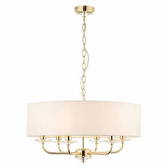 6 Light Multi Arm Ceiling Pendant Brass