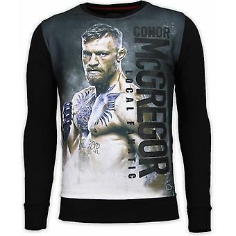 Conor McGregor - Digital Rhinestone Sweater - Zwart
