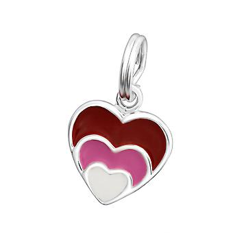 Heart - 925 Sterling Silver Charms with Split ring - W29948X