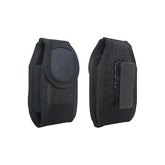 Caja de nylon robusta Verizon para dispositivo pequeño - Negro - Se adapta a Convoy 4, DuraXV Plus, DuraXV, Convoy 3, DROID X, S4 mini