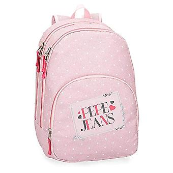 Pepe Jeans Olaia Pink Backpack Double Compartment - 44 cm