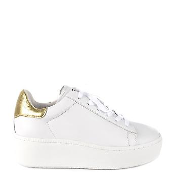 Ash CULT Trainers White Leather & Gold