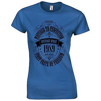 30 års fødselsdag gaver til kvinder hendes modnet 1989 T-shirt