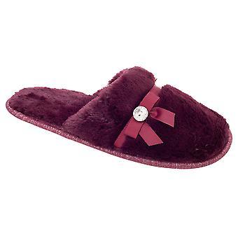 Slumberzzz Womens/Ladies Pearl Plush Mule Slippers