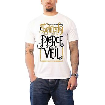 Pierce The Veil T Shirt Selfish Machines Album Title Official Mens New White