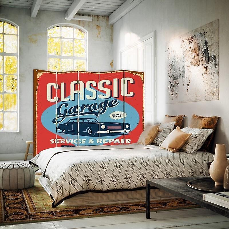 Diviseur de chambre, 5 panneaux, double-sided, toile, GParrotge classique