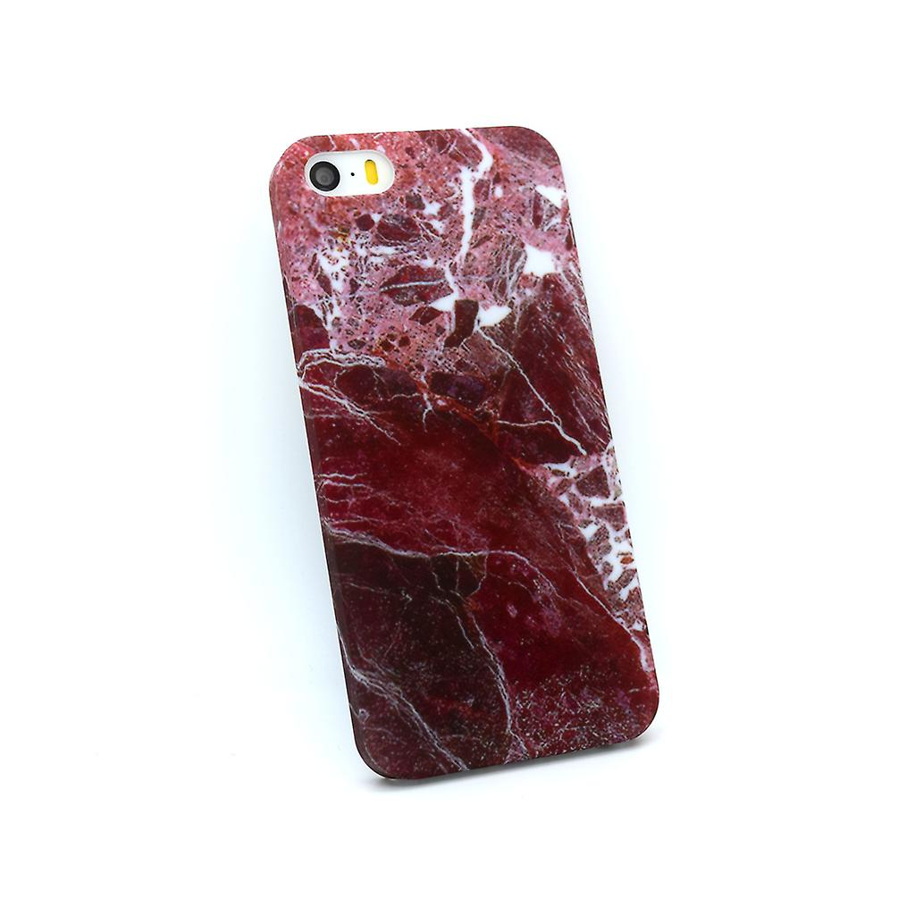 Iphone 5/5S/SE Marble Cover Case Red