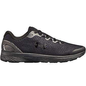 Under Armour Mens Charged Bandit 4 Lace Up Sports Running Trainers Shoes - Black