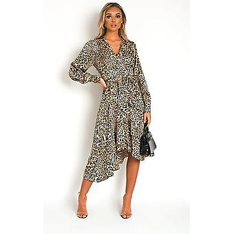 IKRUSH Womens Melly Animal Print Maxi Dress