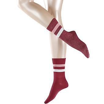 Esprit Tennis Stripe 2-Pack Socken - Granat Rot