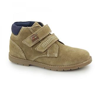 Kickers Orin Twin Boys Suede Touch Fasten Desert Boots Light Tan