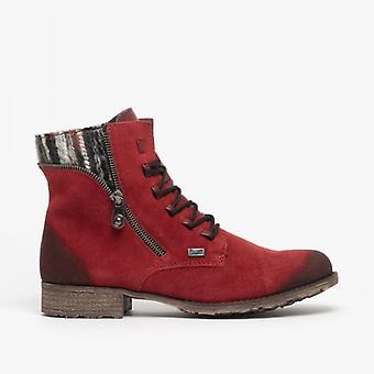 Rieker 70840-35 Damen Casual Ankle Boots Wein