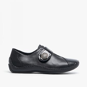 Rieker L1760-00 Ladies touch fest sko svart