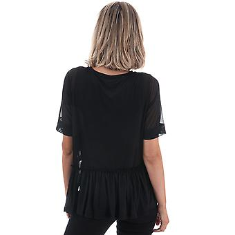 Womens Only Tribecca Mesh Top In Black